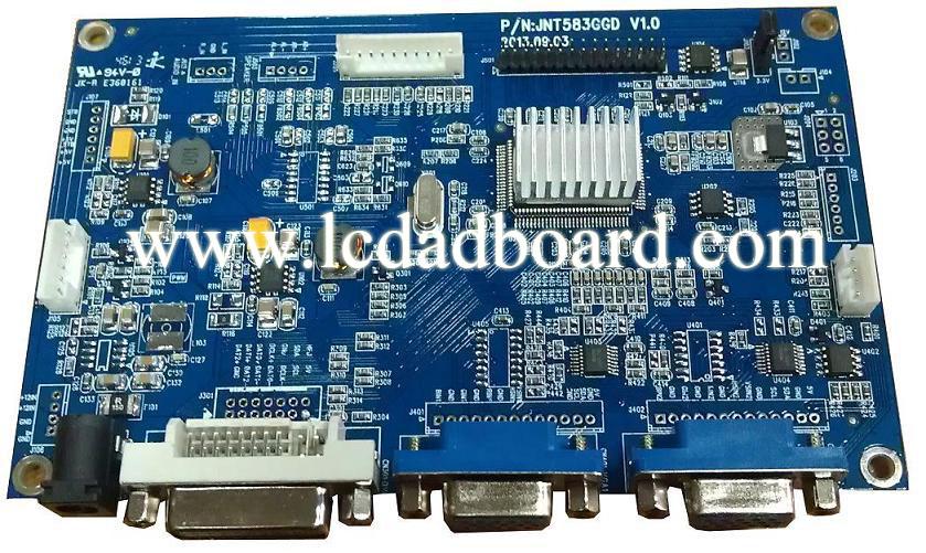宽温液晶驱动板-40度;液晶控制板;vga转lvds; dvi转